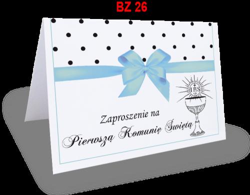 Zaproszenie Na Pierwszą Komunię świętą Bz26 Ol Druk