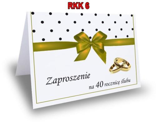 Zaproszenie Na 254050 Rocznicę ślubu Rkk6 Ol Druk