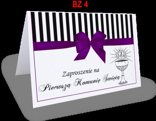 Zaproszenie Na Pierwszą Komunię świętą Bz4 Ol Druk