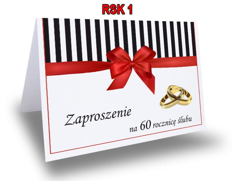 Rewelacyjny Zaproszenie na 25,40,50 Rocznicę Ślubu RSK1 Ol-Druk UB89